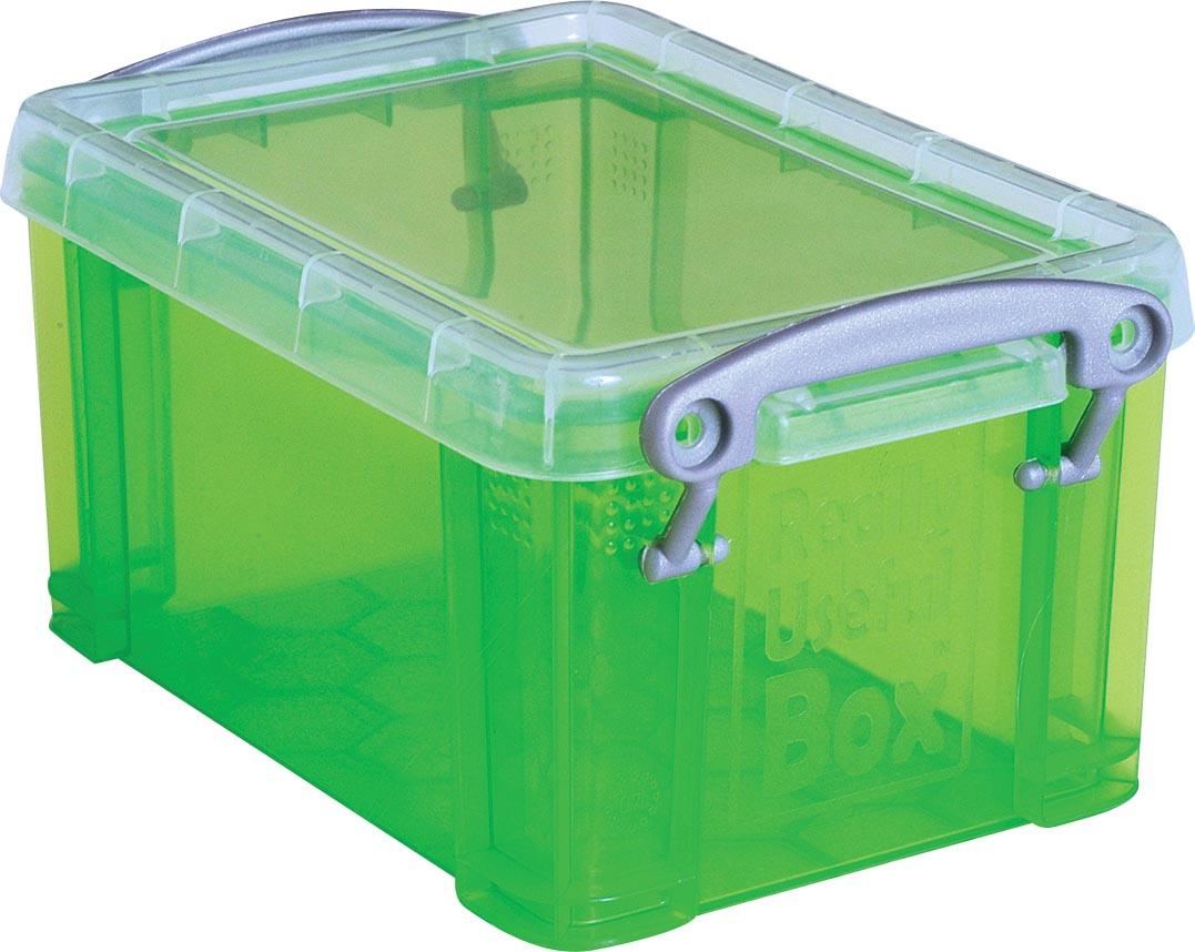 Really Useful Box 0,3 liter visitekaarthouder, transparant groen
