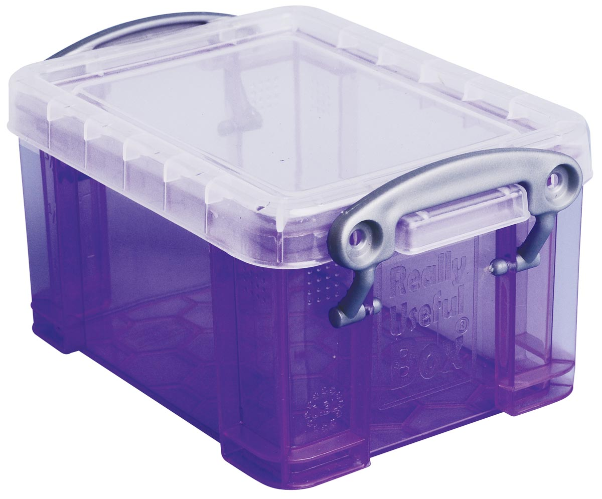 Really Useful Box visitekaarthouder 0,3 liter, transparant paars