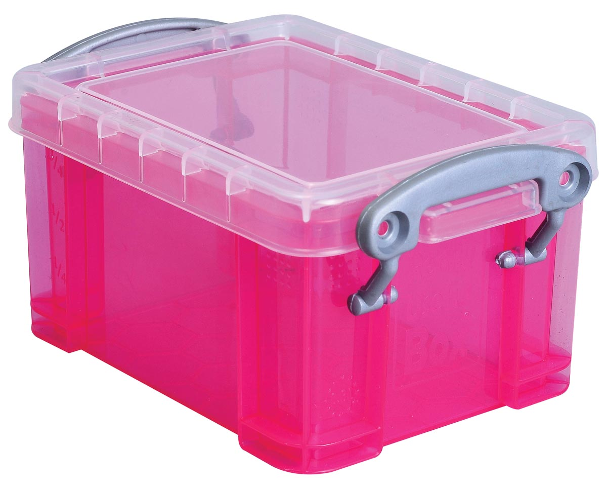 Really Useful Box visitekaarthouder 0,3 litres, transparant roze