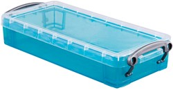 Really Useful Box 0,55 liter, transparant helblauw