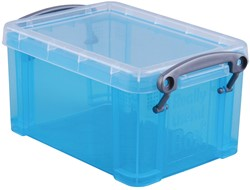 Really Useful Box 0,7 liter, transparant helblauw