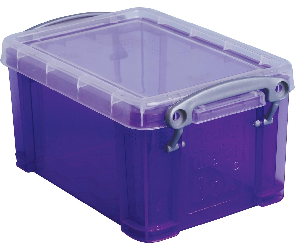 Really Useful Box 0,7 liter, transparant paars