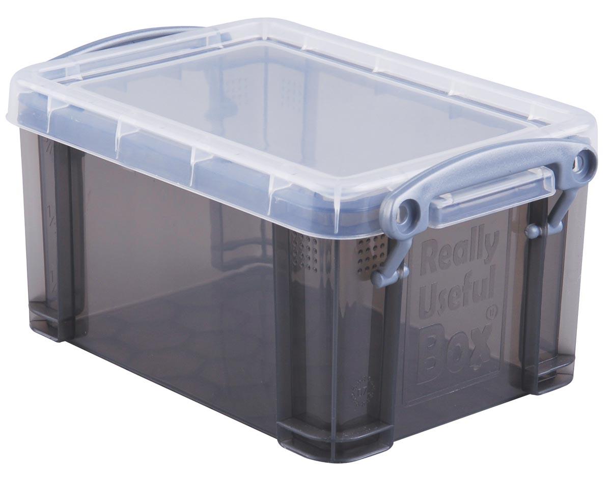 Really Useful Box 0,7 liter, transparant smoke