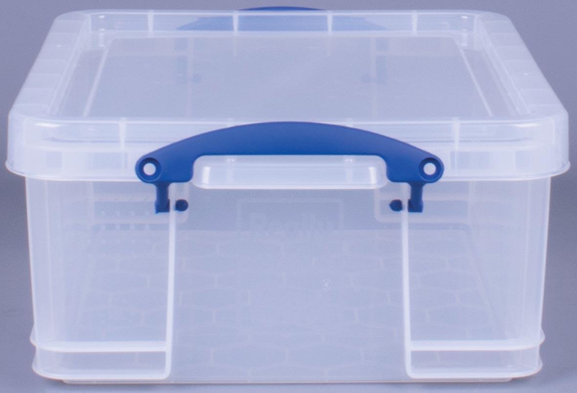 Really Useful Box 18 liter, transparant, per stuk verpakt in karton