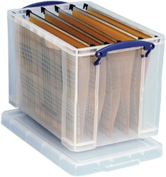 Really Useful Box 19 liter hangmappenkoffer inclusief 10 hangmappen, transparant
