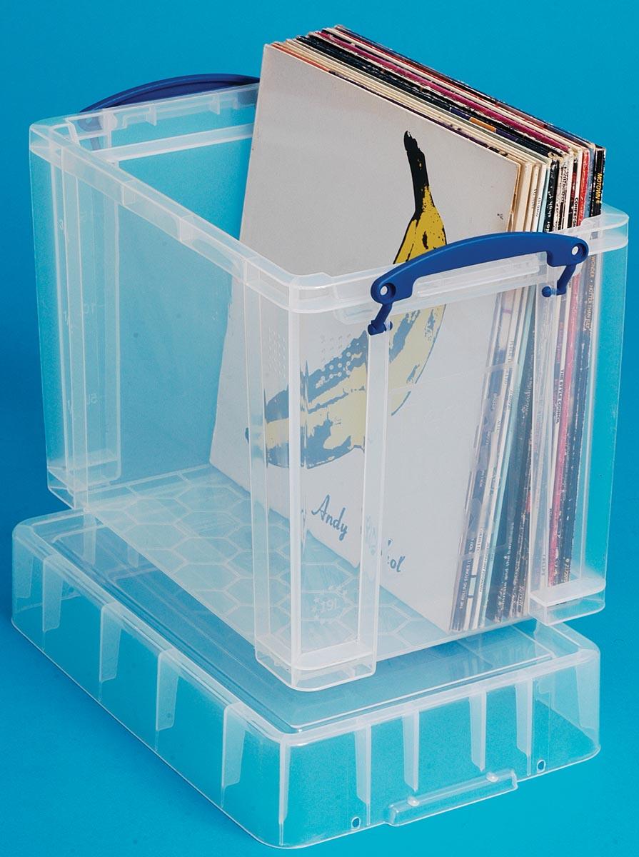 Really Useful Box 19 liter XL, transparant