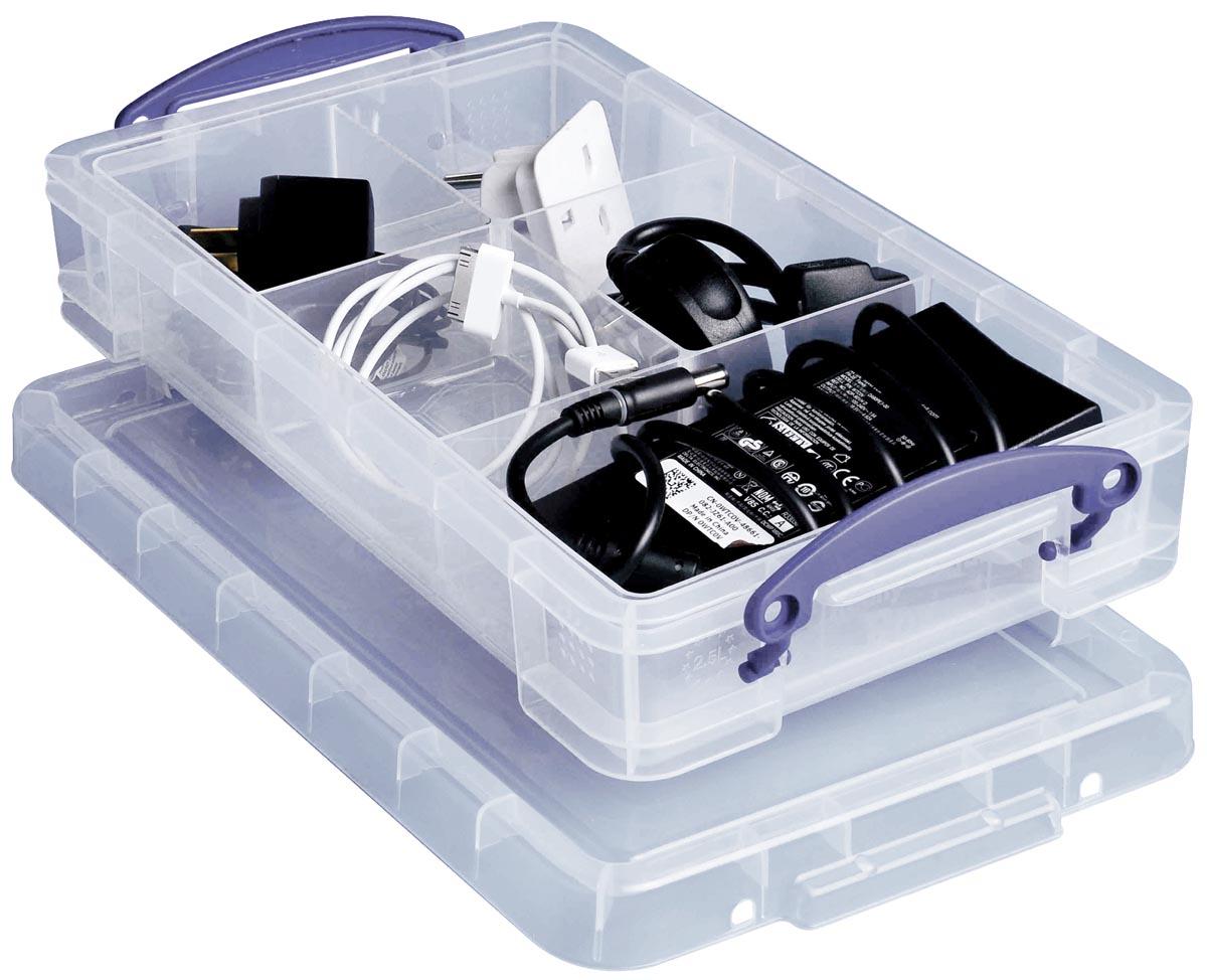 Really Useful Box opbergdoos 2,5 liter, transparant
