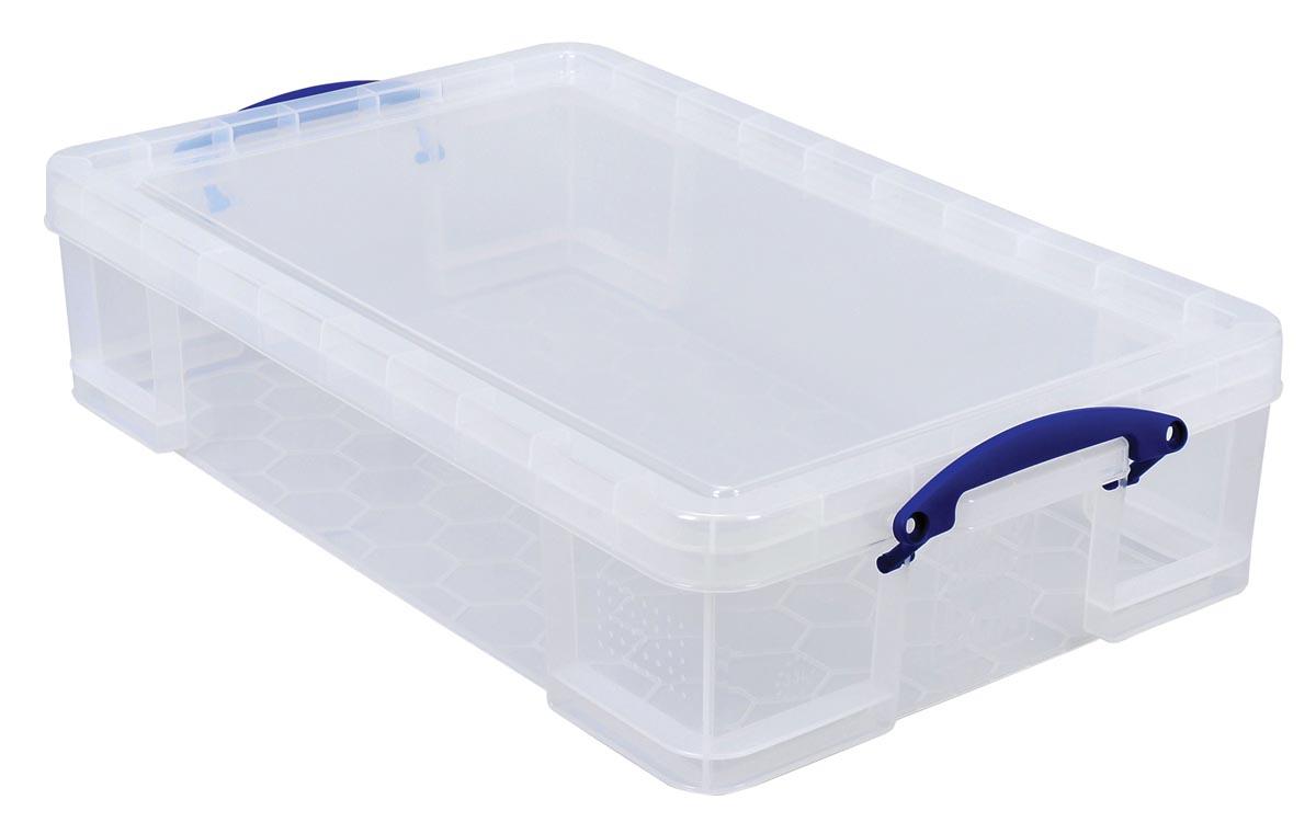 Really Useful Box opbergdoos 33 liter, transparant