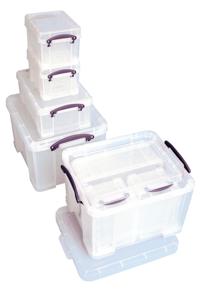 Really Useful Box bonuspak, transparant, inhoud: 1 x 35 liter, 1 x 9 liter, 2 x 3 liter