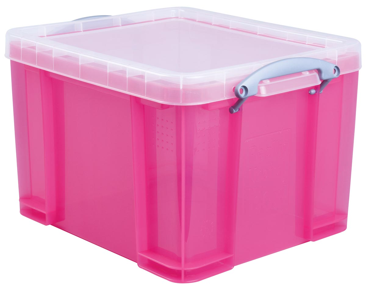Really Useful Box opbergdoos 35 liter, transparant, helroze