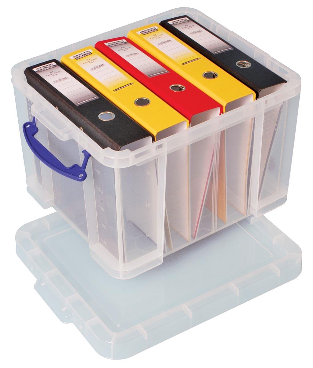 Really Useful Boxes Archiefboxen Transparant Plastic Met deksel 48 x 39 x 31 cm Stuks