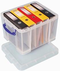 Really Useful Box 35 liter, transparant