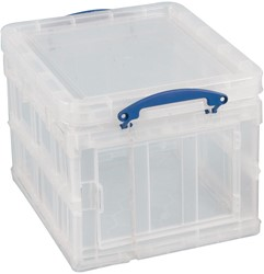 Really Useful Box 35 liter opvouwbaar, transparant