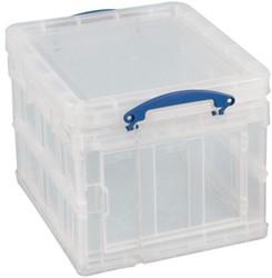 Really Useful Box 35 liter opvouwbaar, transparant
