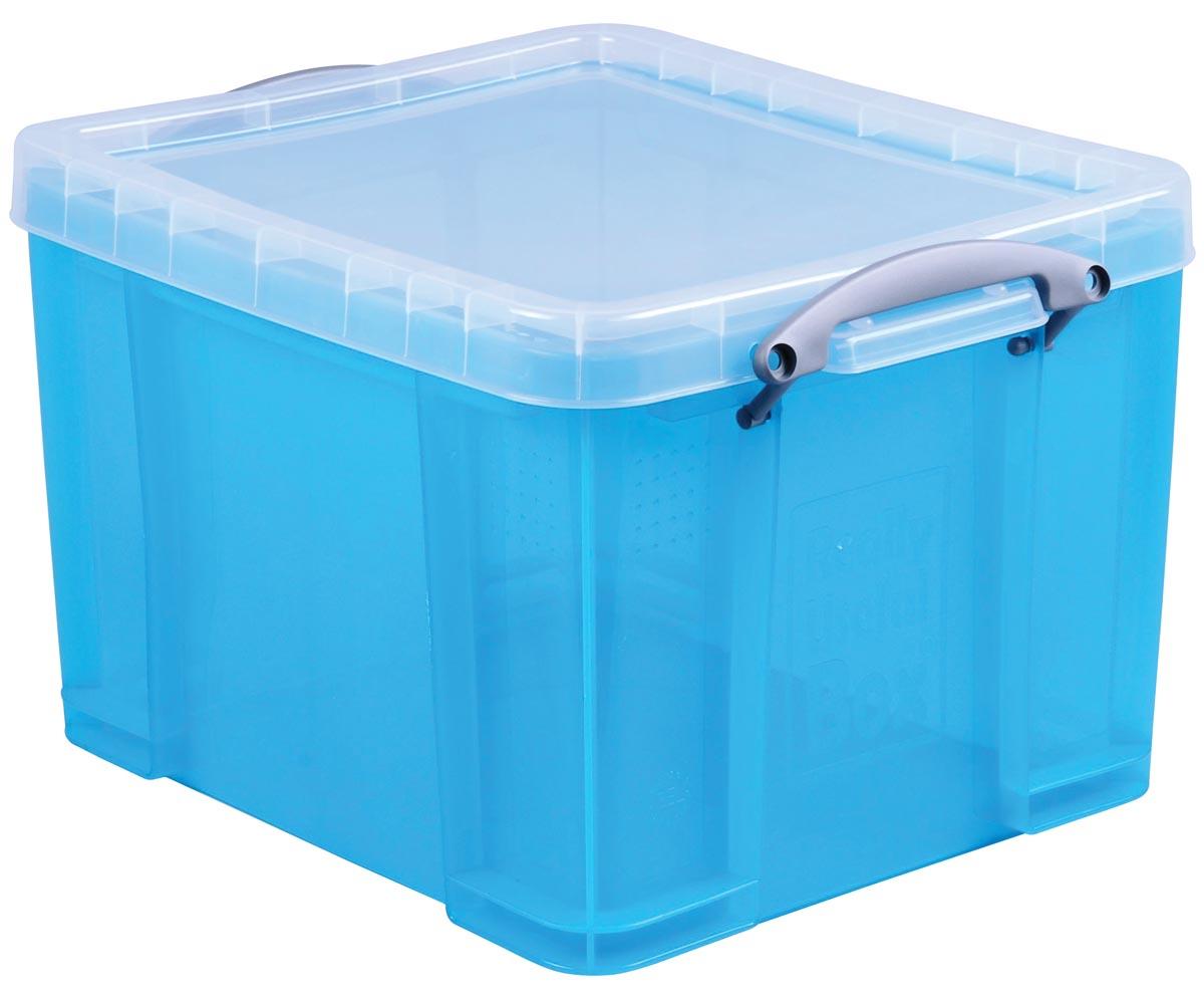 RUB gekleurde transparante opbergdoos 35 l helblauw