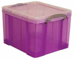 Really Useful Box 35 liter, transparant paars