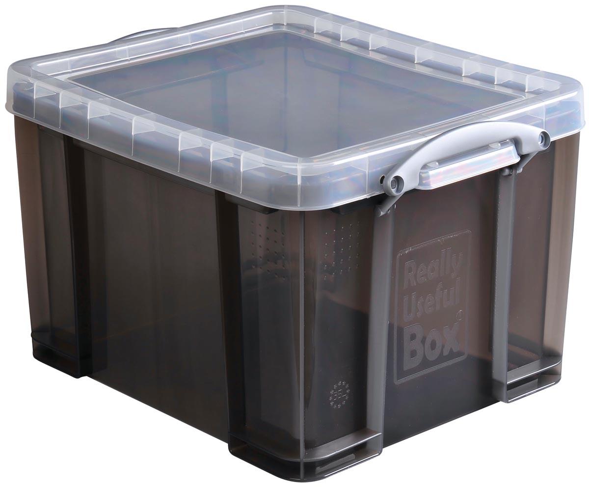 Really useful boxes transparante opbergdoos 35 l smoke