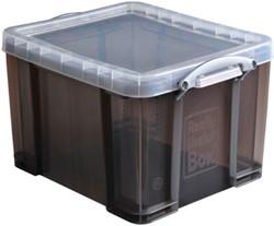 Really Useful Box 35 liter, transparant gerookt