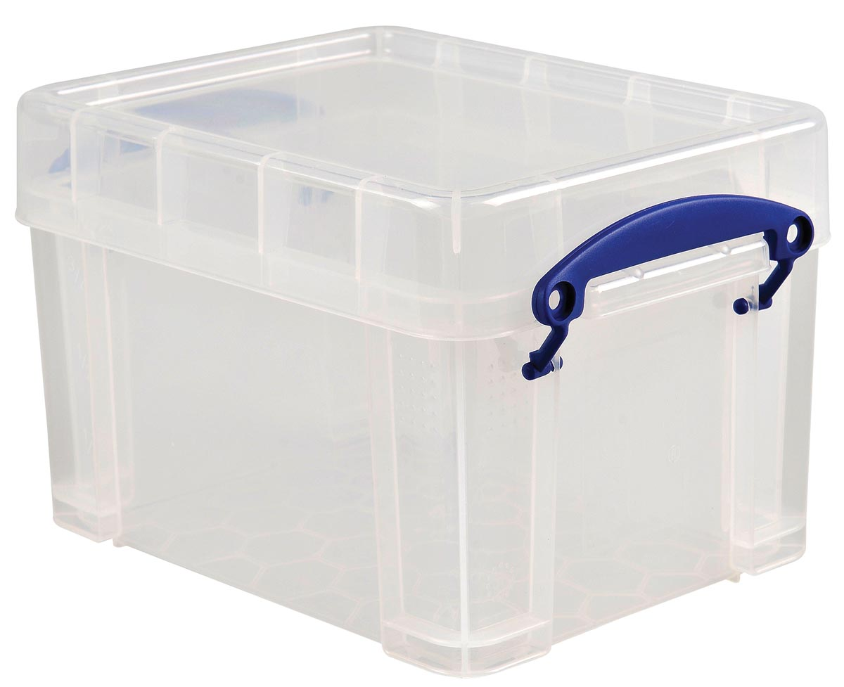 Really Useful Boxes Archiefboxen B5 Transparant Plastic met deksel 24 5 x 18 x 16 cm Stuks