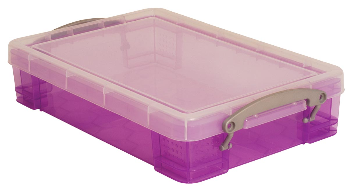 Really Useful Box opbergdoos 4 liter, transparant paars