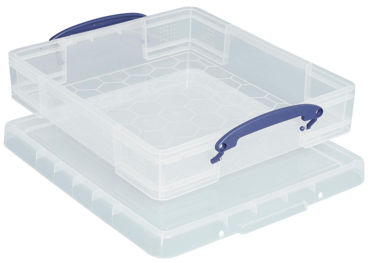 Really Useful Box 7 liter met divider, transparant