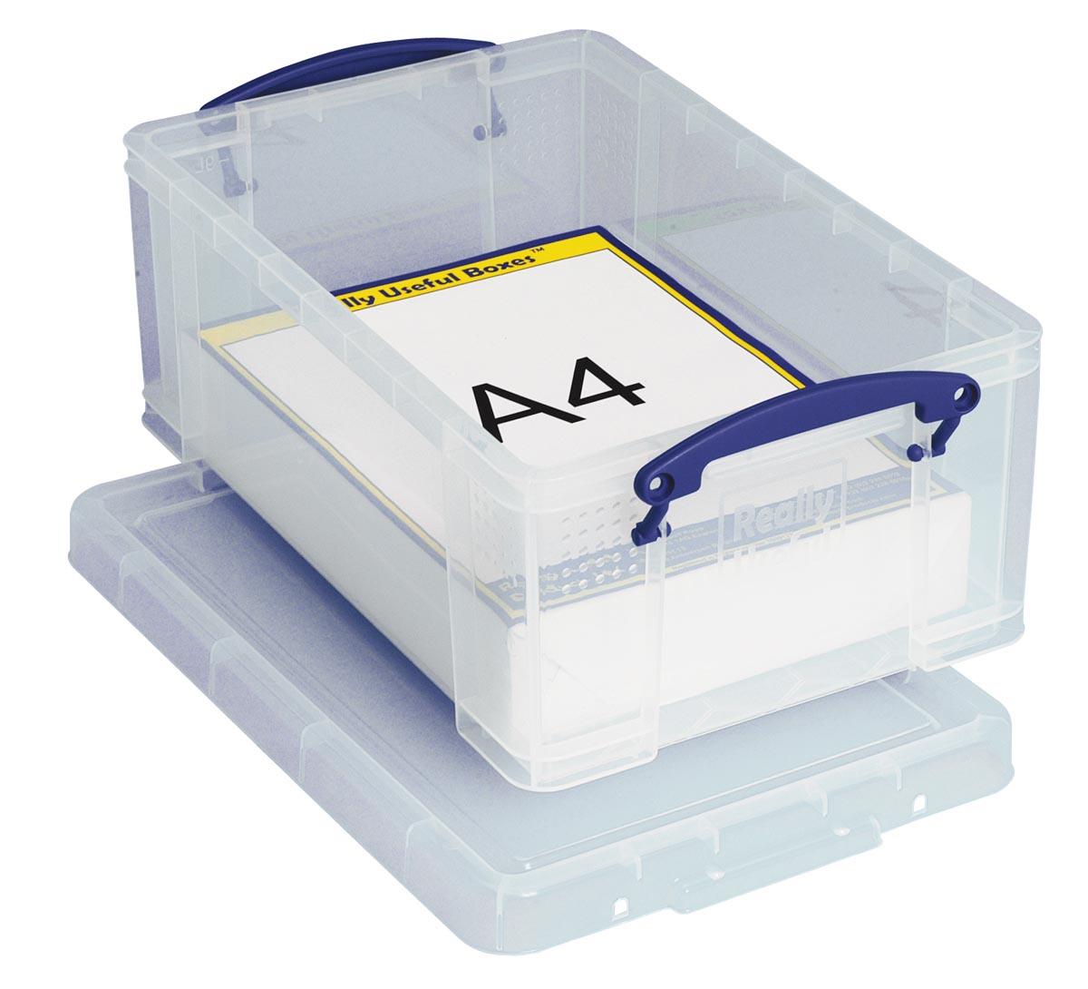Really Useful Boxes Archiefboxen A4 Transparant Plastic met deksel 25 5 x 39 5 x 15 5 cm Stuks