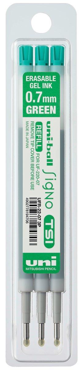 Uni-ball vulling voor gelroller Signo TSI, etui met 3 vullingen, groen