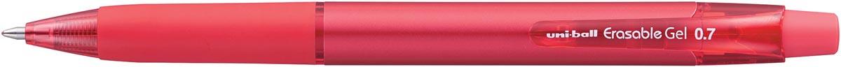 Uni-ball gelroller Erasable Gel, intrekbaar, rood