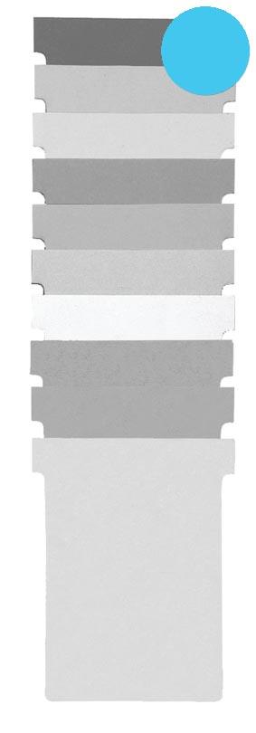 Nobo T-planbordkaarten index 1,5, ft 53 x 45 mm, blauw