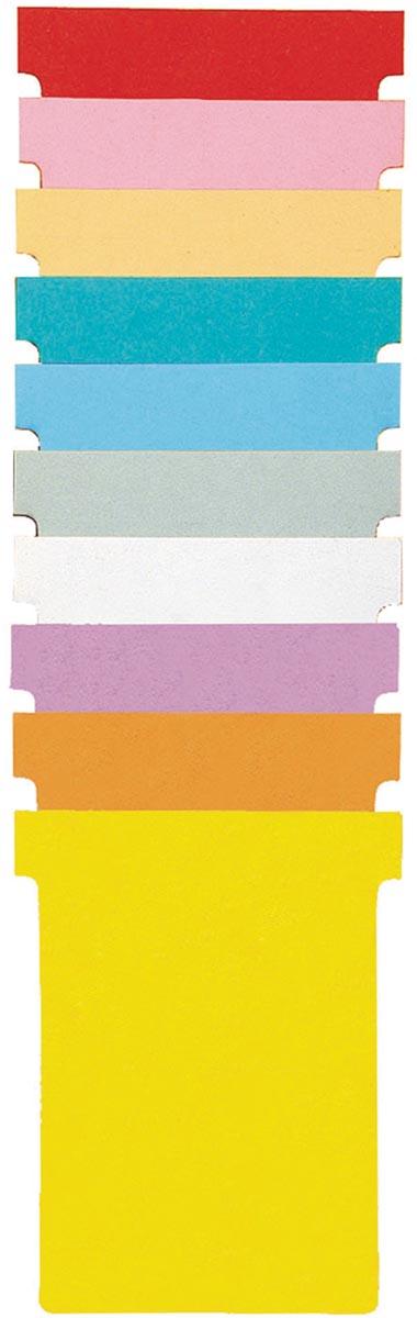 Nobo T-kaarten index 1,5, ft 53 x 45 cm, geel, pak met 100 stuks