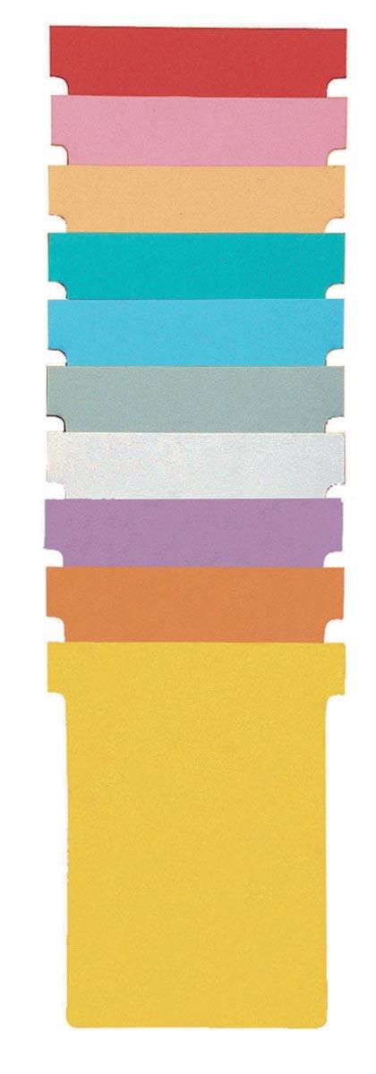 Nobo T-kaarten index 1,5, ft 53 x 45 cm, oranje, pak met 100 stuks