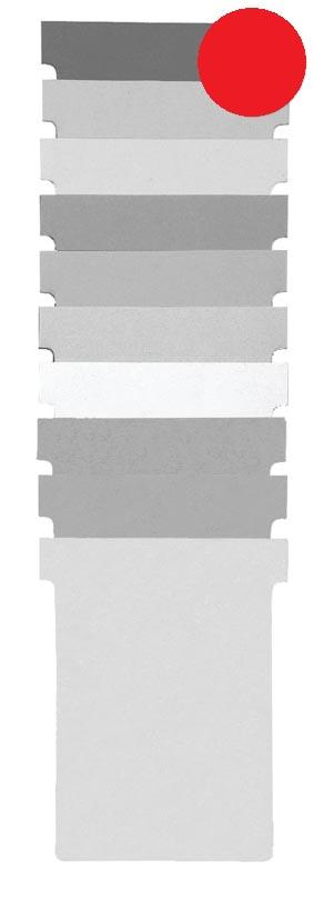 Nobo T-planbordkaarten index 1,5, ft 53 x 45 mm, rood