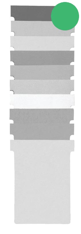 Nobo T-planbordkaarten index 1,5, ft 53 x 45 mm, groen