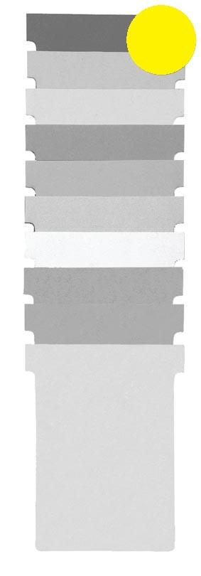Nobo T-planbordkaarten index 2, ft 85 x 60 mm, geel