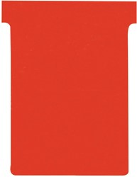 Nobo T-planbordkaarten index 3, ft 120 x 92 mm, rood