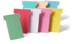 Nobo T-kaarten index 4, ft 180 x 124 mm, roze, pak met 100 stuks