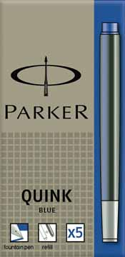Parker Quink Vulpen navulling Blauw 5 Stuks