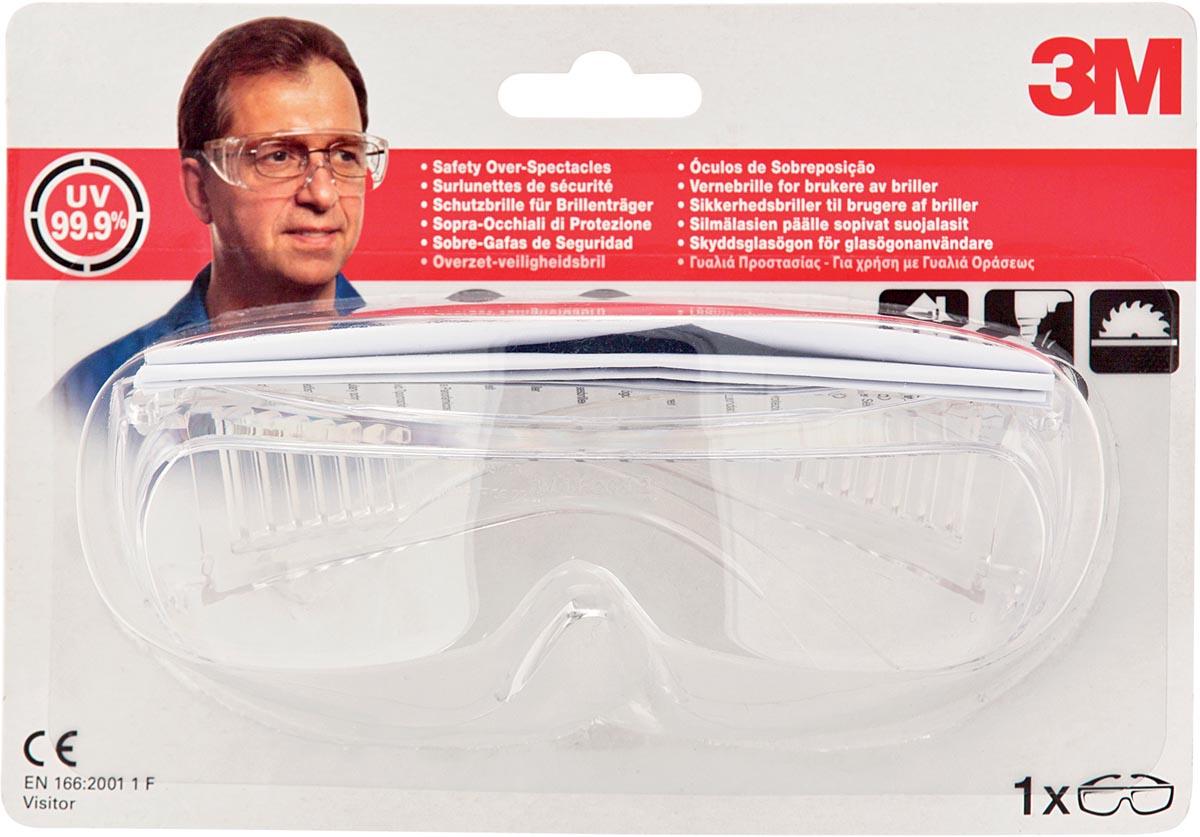 3M overzet-veiligheidsbril, transparant, blisterverpakking