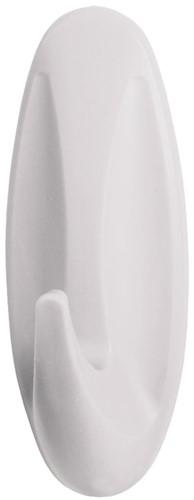 Command decohaak, medium, draagvermogen 1,4 kg, wit, waterbestendig, blister van 2 stuks-2