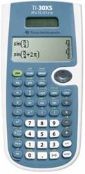 Texas wetenschappelijke rekenmachine TI-30XS Multiview, werkt op zonnecellen en batterijen