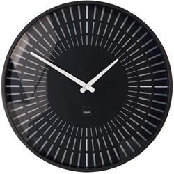 Sigel wandklok Lox, diameter 36 cm, radiogestuurd, zwart