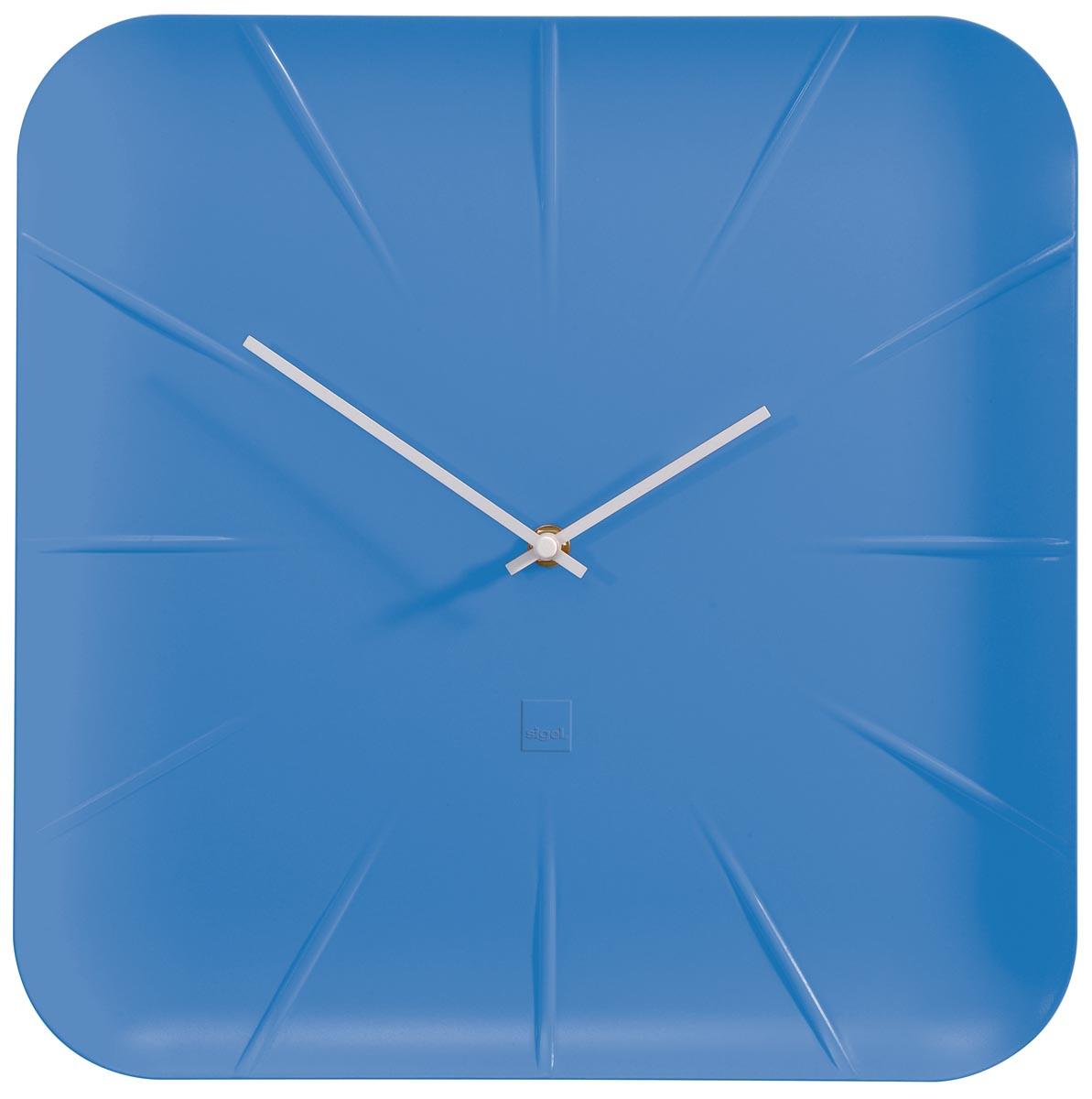 Sigel wandklok Inu, ft 35 x 35 x 4,5 cm, blauw