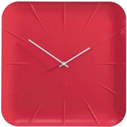 Sigel wandklok Inu, ft 35 x 35 x 4,5 cm, rood