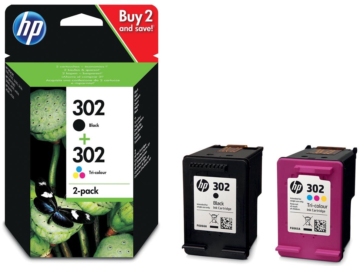 Inkcartridge HP x4d37ae 302 zwart+kleur