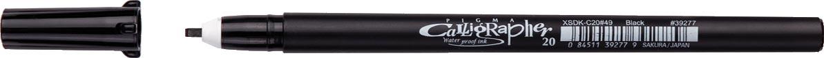 Sakura kalligrafiepen Pigma Calligrapher, zwart, schrijfbreedte: 2,0 mm