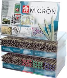 Sakura fineliner Pigma Micron, display met 120 stuks in geassorteerde kleuren